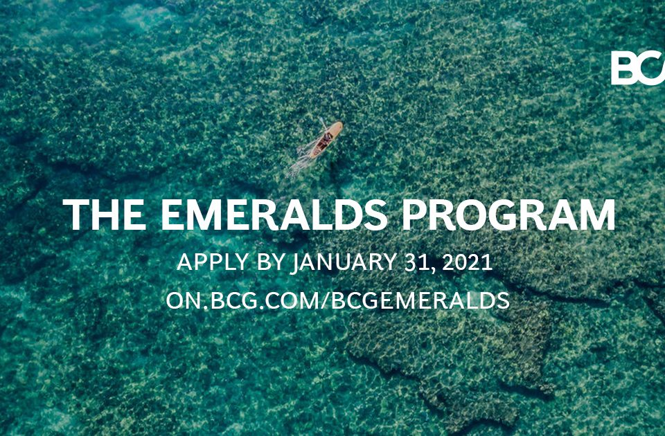 BCG EMERALDS PROGRAM